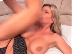 Horny stud works his dong inside milf`s craving love hole.