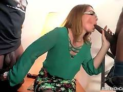 Lovely milf Kiki Daire appears to be very much black cock hungry.