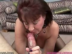 Slutty Breasted Lady Slurps Thick Cock 2